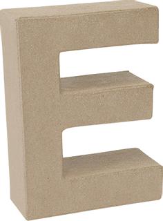 "Papp-Buchstabe 3D ""E"" 17,5 x 13,2 x 5,5 cm natu"