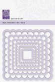 """Punching Stencil """"Frame Wave square"""" 17 - 93 mm"""